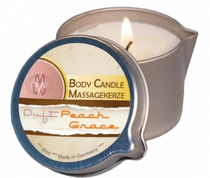 Bodymassage candle peach