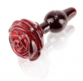 Pretty Rose Glass Plug