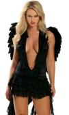 Black angel one size