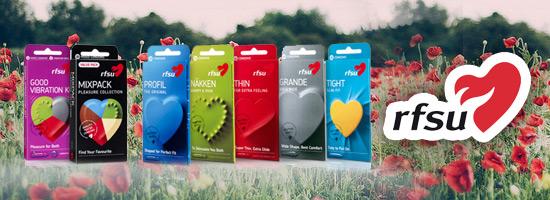 RFSU kondomer, glidmedel och intimvård