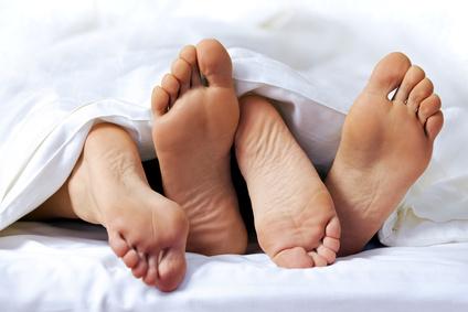 Missionärsställningen i sängen